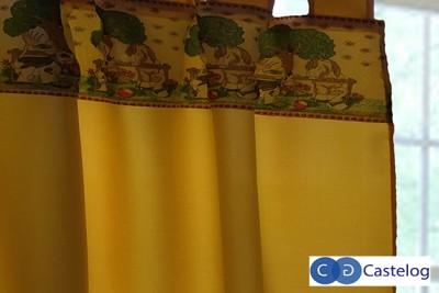 Cortina jacquard argollas castelog for Como blanquear cortinas