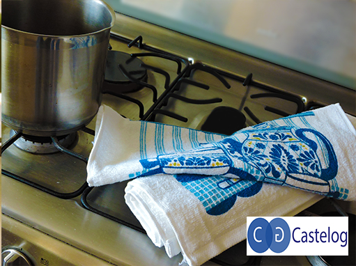 Trapo de cocina estampado con bastilla castelog - Trapo de cocina ...