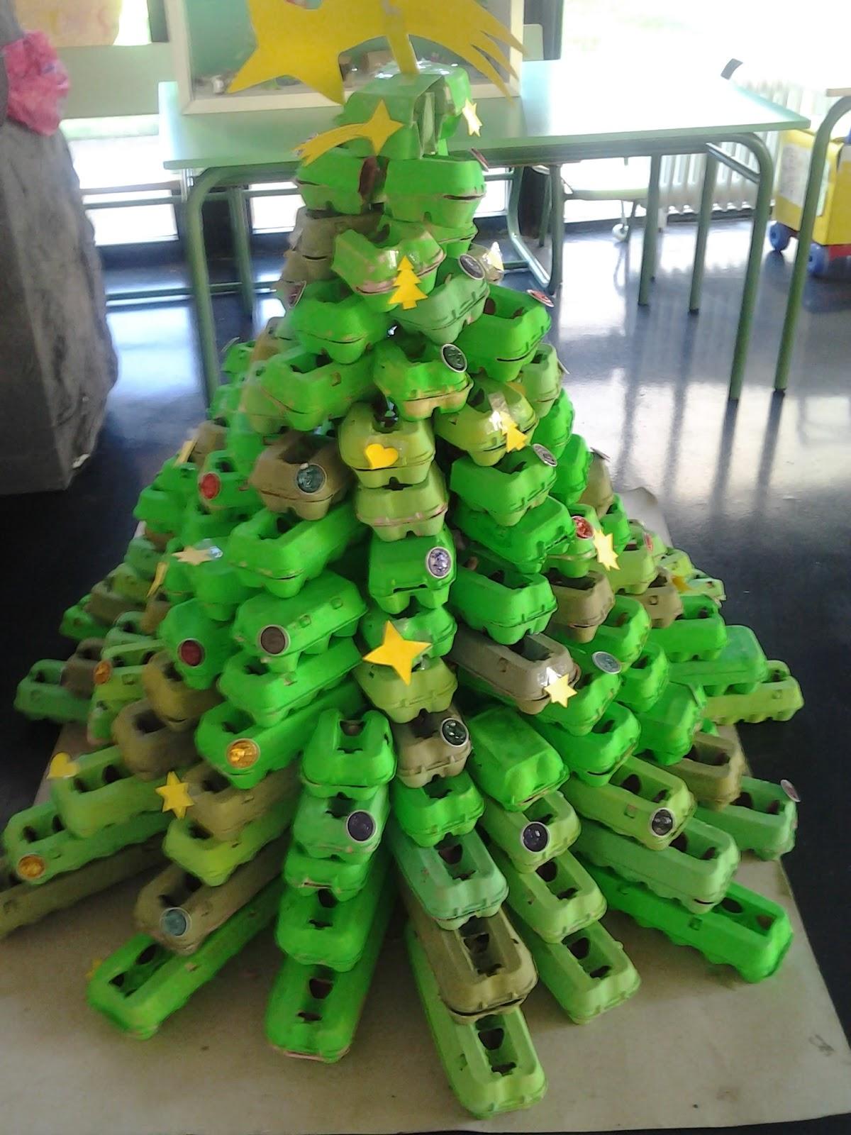 C mo hacer un rbol de navidad con materiales reciclados - Arboles de navidad de manualidades ...