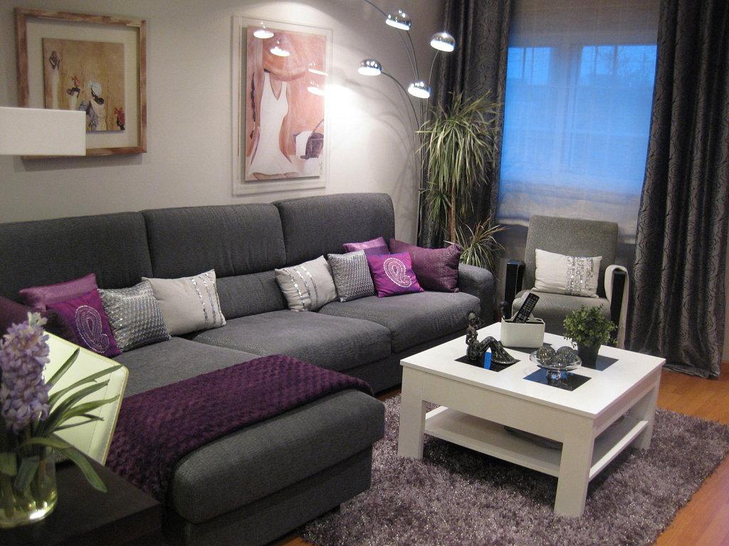 la combinaci n perfecta para tu sala gris y berenjena On foto sala chica rosa y gris